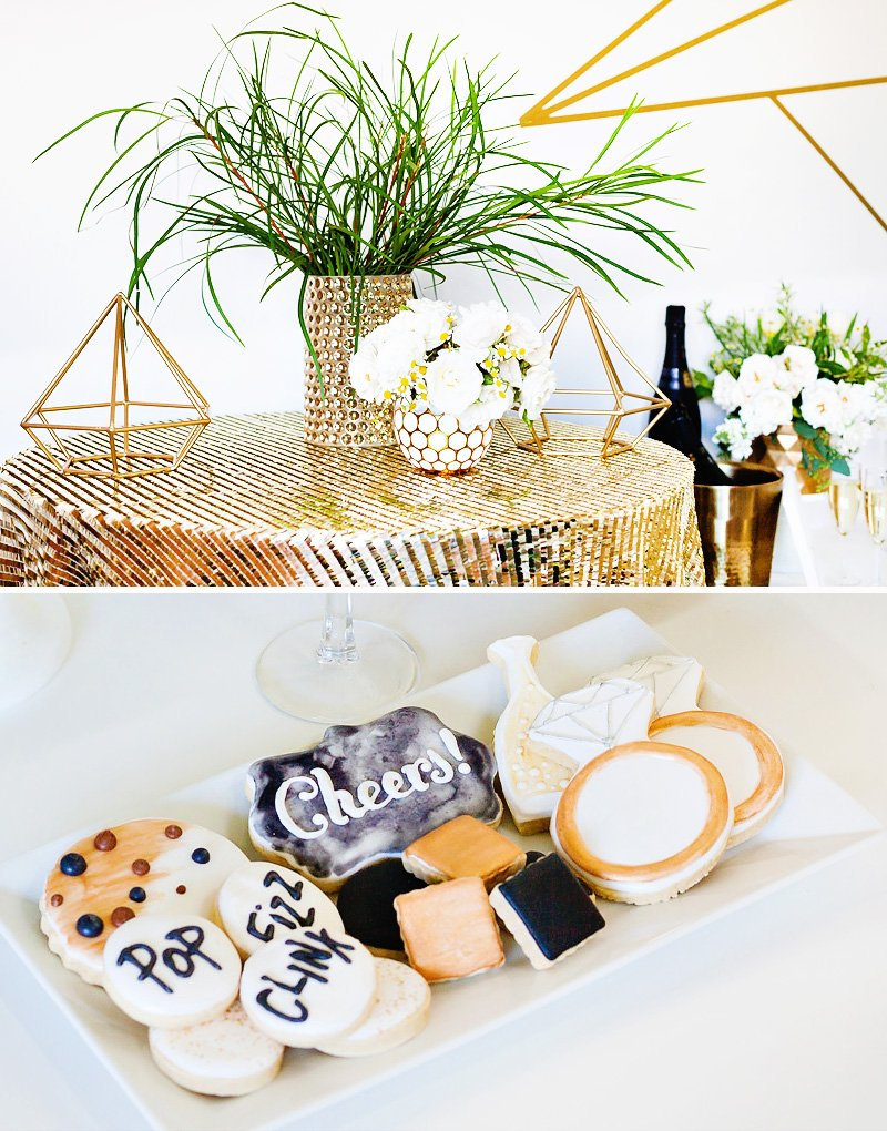 geometric bridal shower
