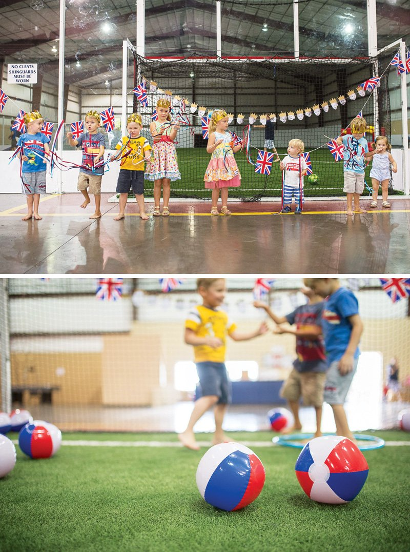 british futball themed birthday party