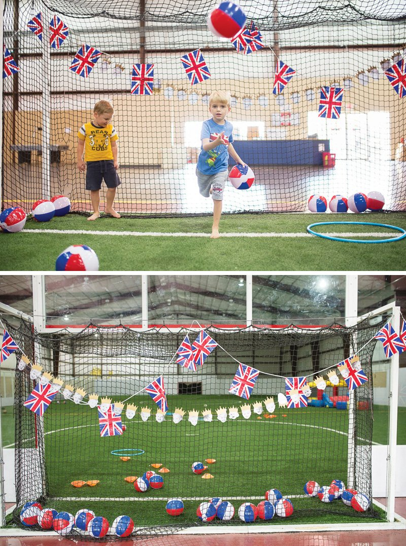 british soccer themed birthday party venue