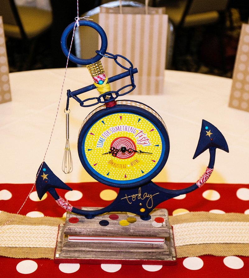 vintage modern anchor party centerpiece