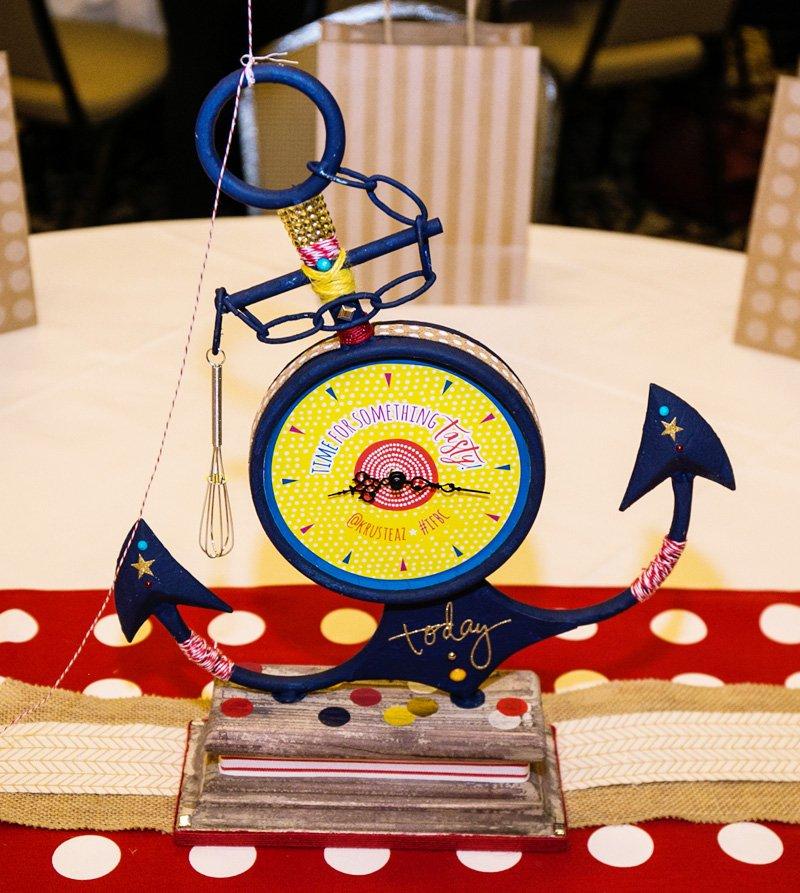 vintage modern anchor party centerpiece