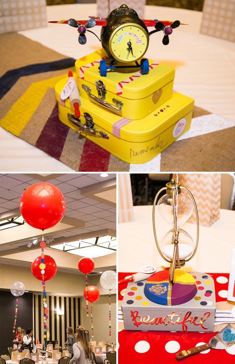 red yellow blue travel party theme