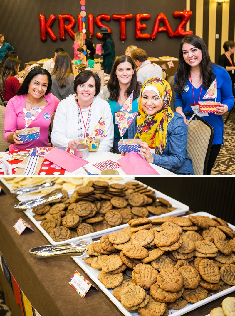 guests at the Krusteaz Cookie Swap Party