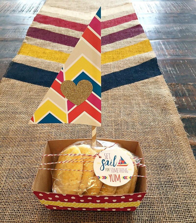 diy cookie packaging - sailboat