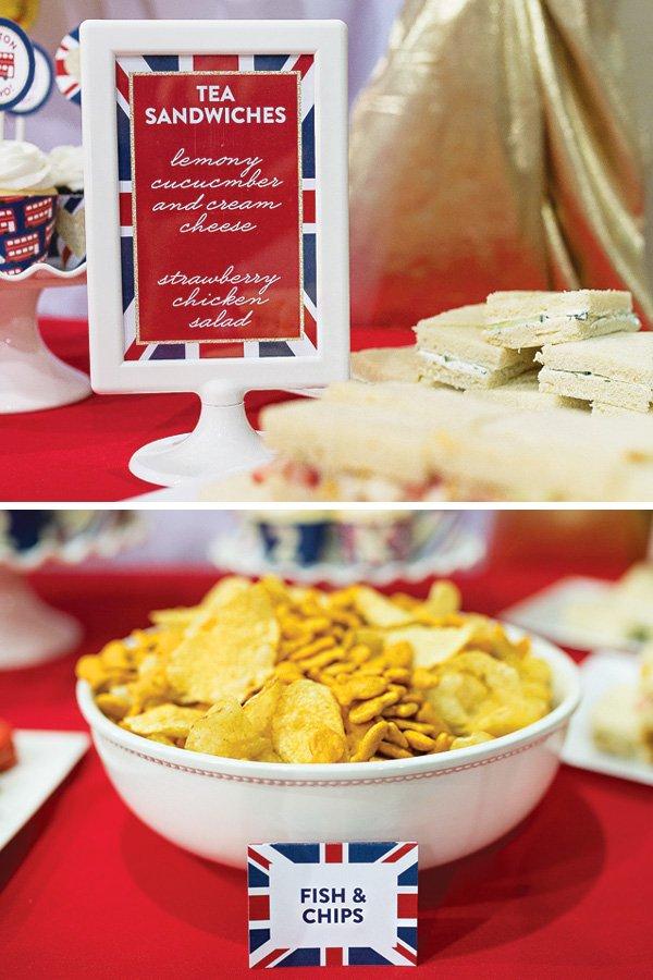 england themed snack ideas