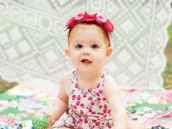 first birthday floral headband and dress
