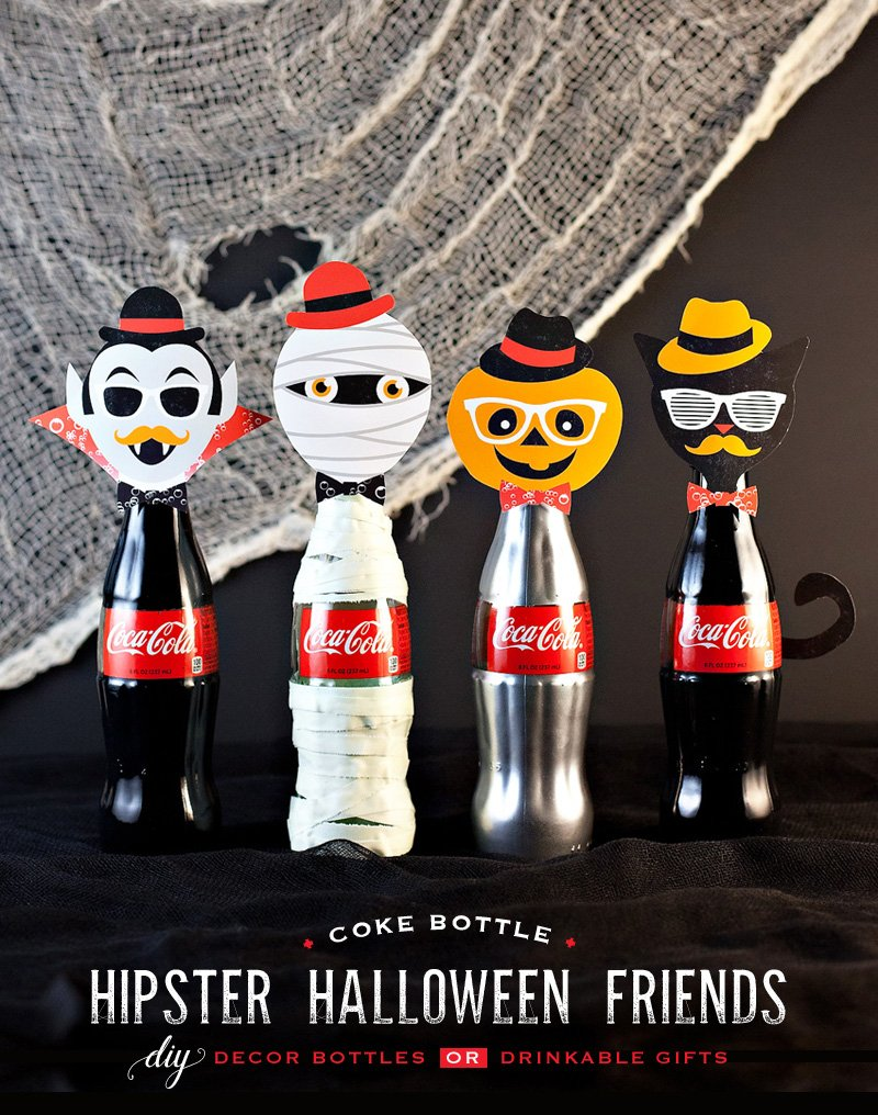 DIY Hipster Halloween Coke Bottles
