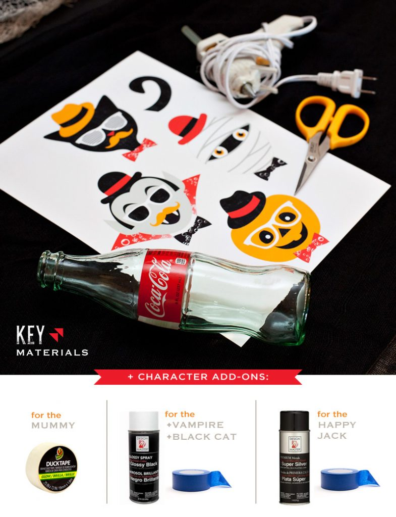 DIY Hipster Halloween Coke Bottles Craft
