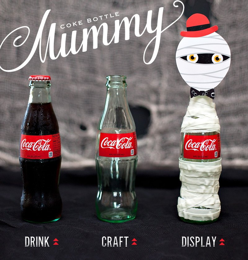 DIY Coke Bottle Mummy Craft