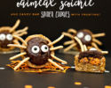Halloween Spider Cookies Recipe with Noodle Legs