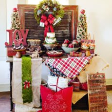 rustic christmas dessert table
