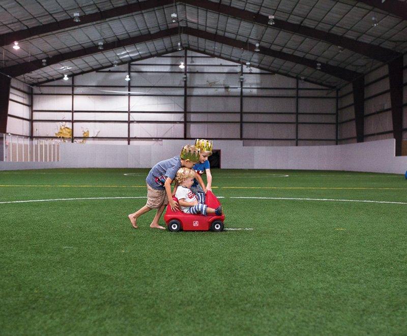indoor soccer field party venue