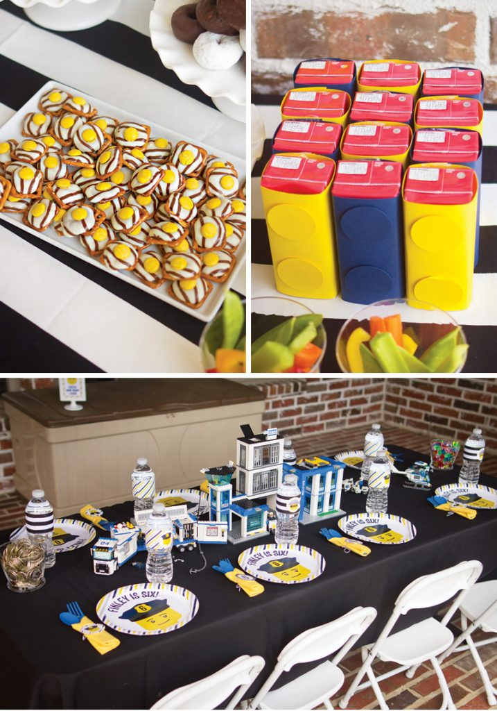 lego birthday party tablescape and snack ideas