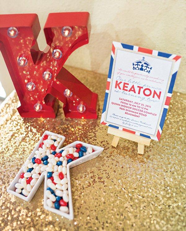 letter K party decor