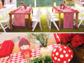 little red riding hood party tablescapes