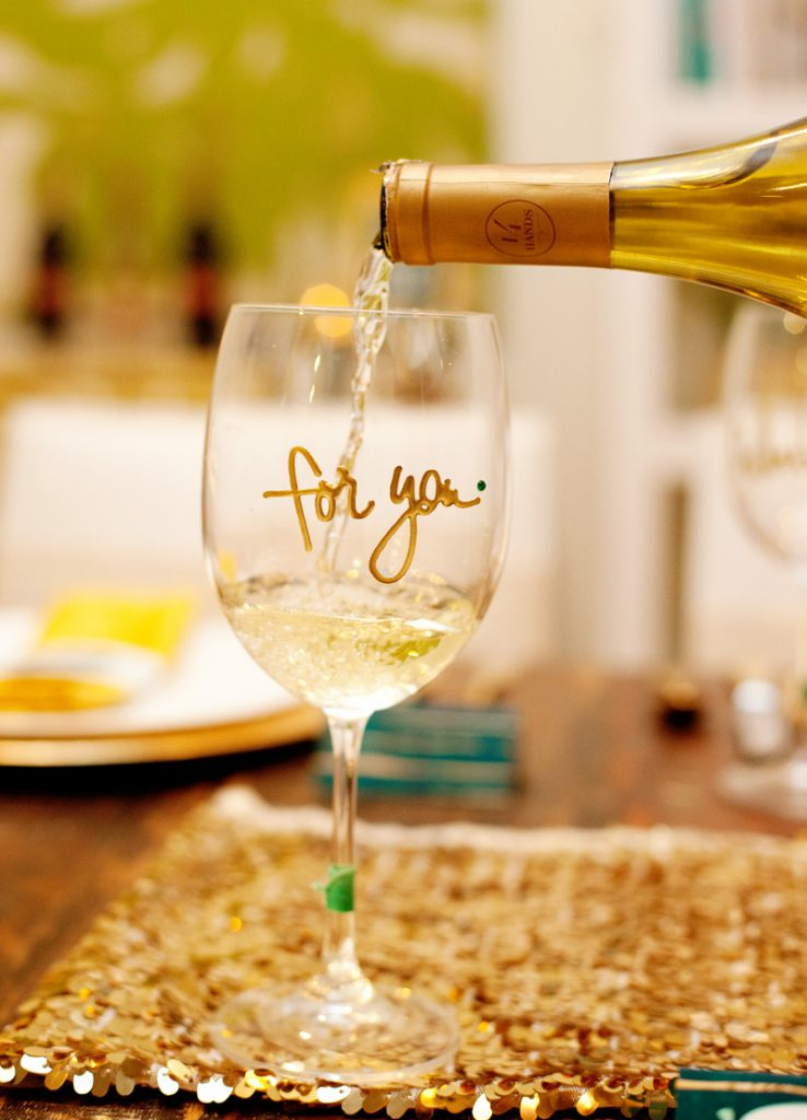 Glam Wine Glass Drink Markers DIY