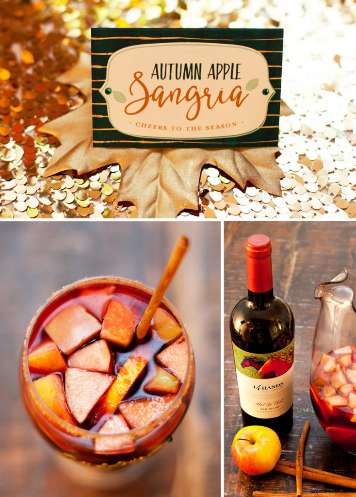 Autumn Apple Sangria - Thanksgiving Signature Drink