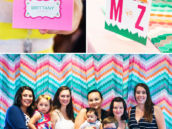 modern bird baby shower ideas