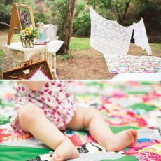 picnic first birthday party blankets