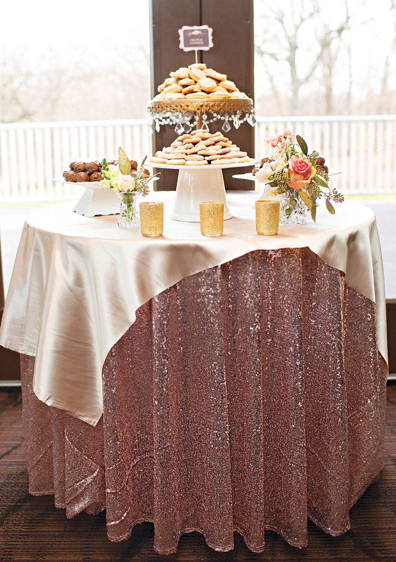 pink glitter table cloth