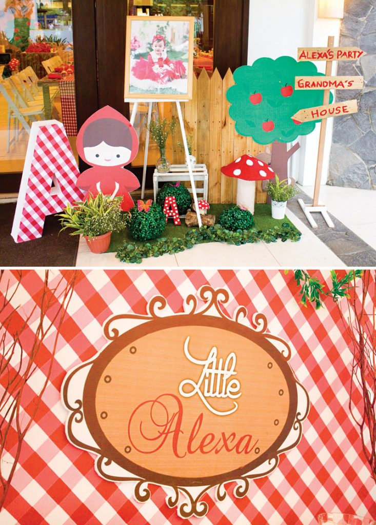 little red riding hood birthday party decor and signs