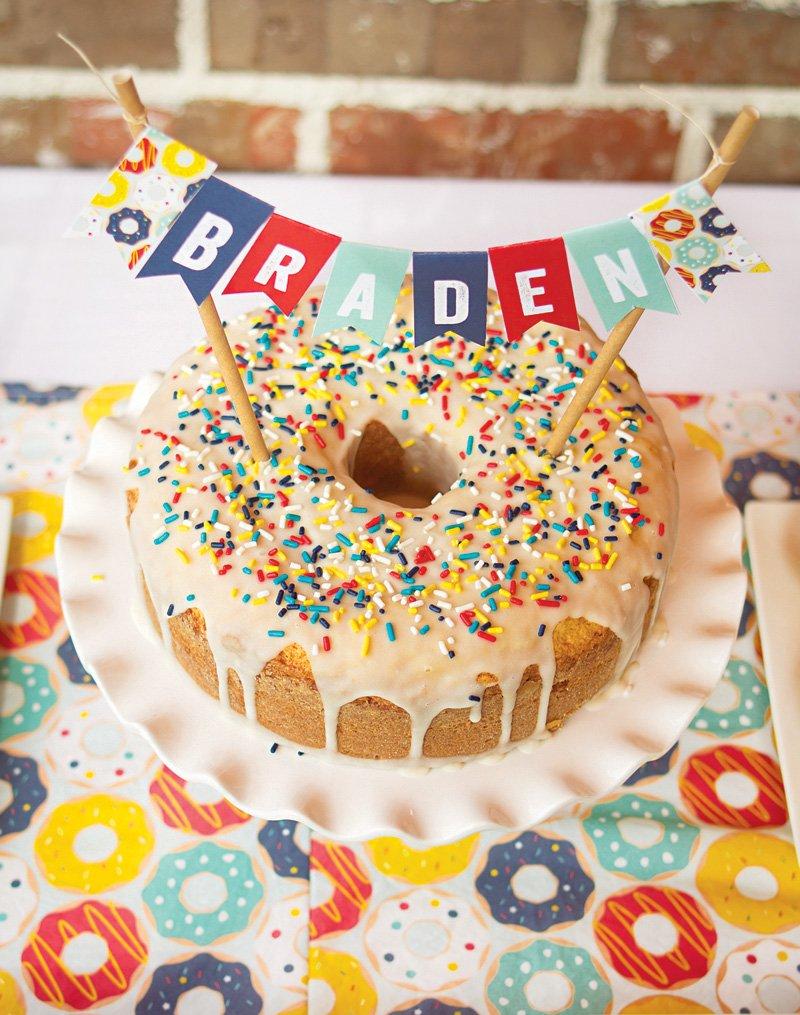 sprinkled bundt donut cake