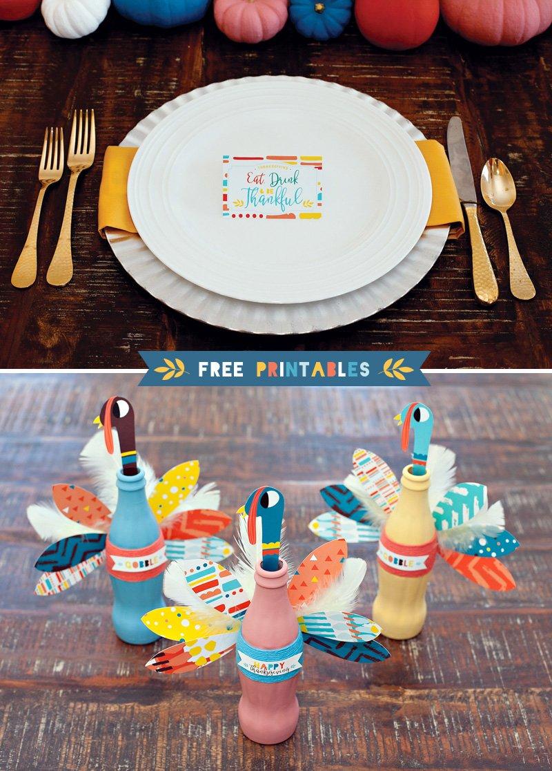 Modern Thanksgiving Printables from HWTM