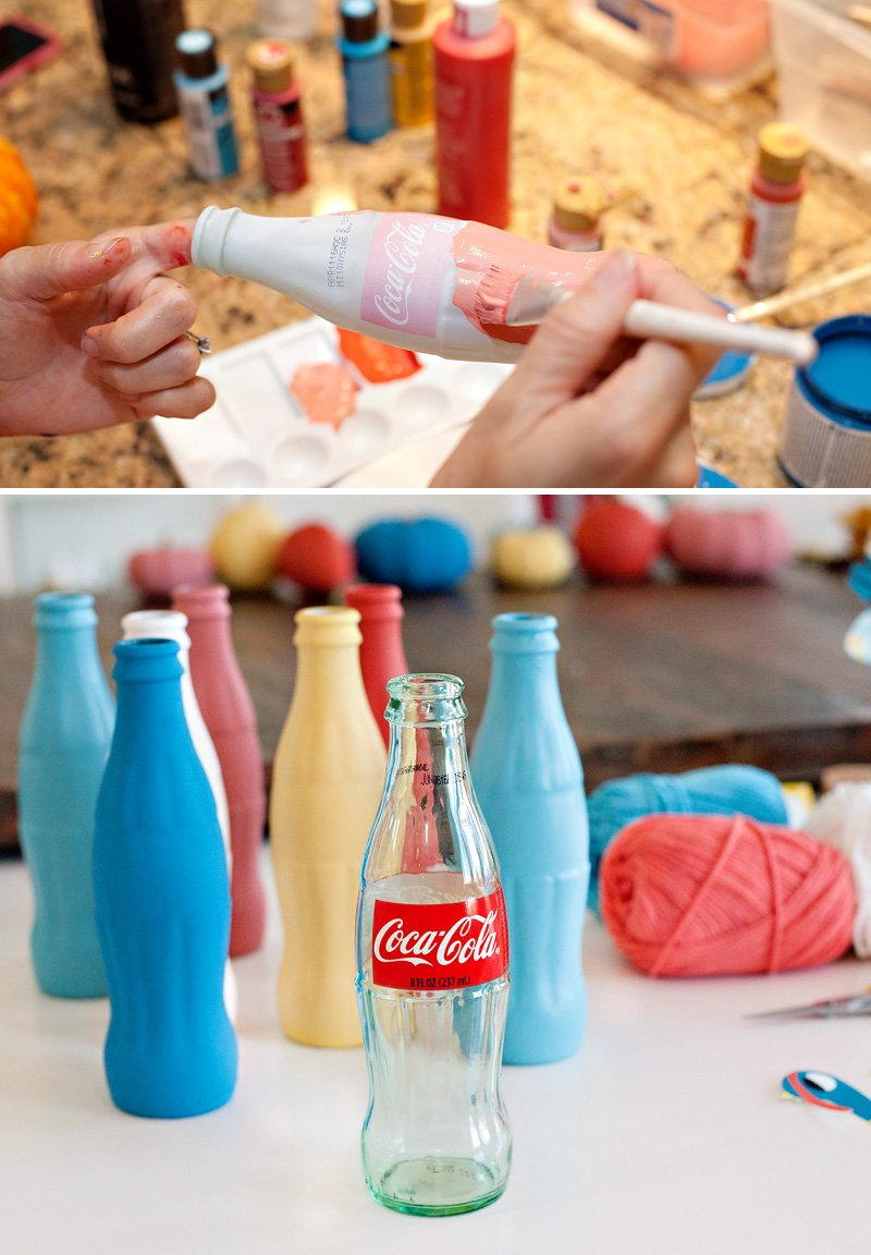 Colorful Coke Bottles