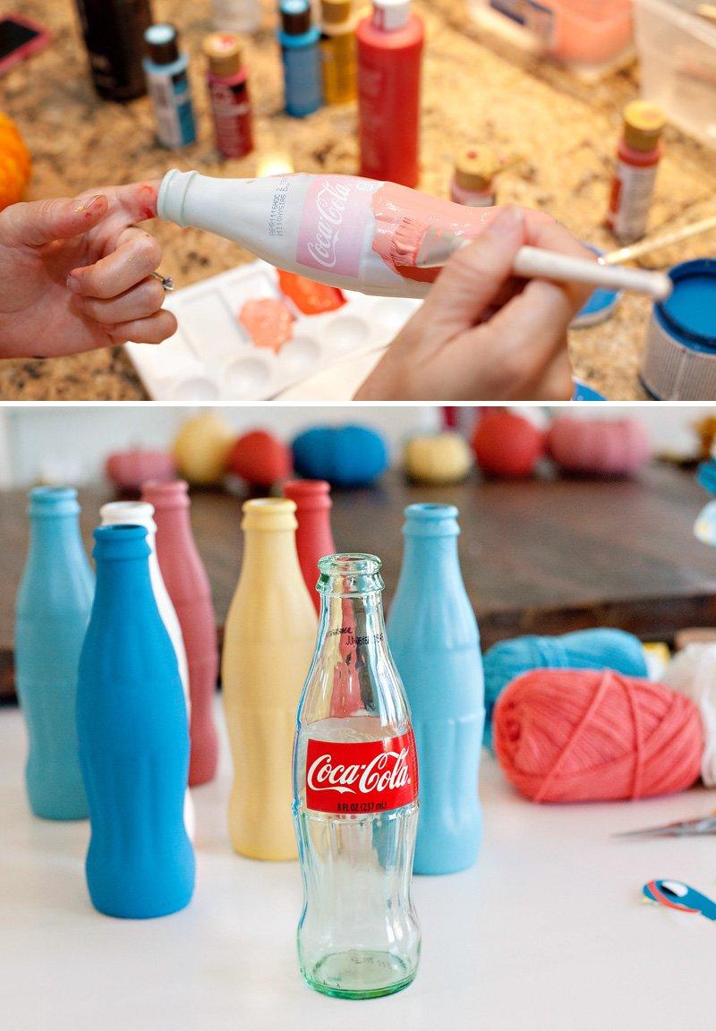 Colorful Coke Bottles