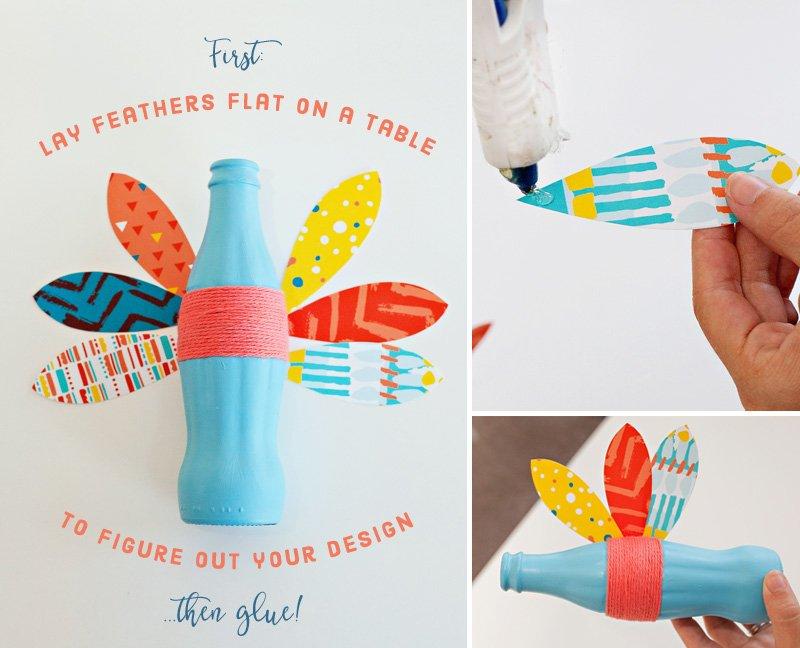 Coke Bottle Turkeys - Step 2