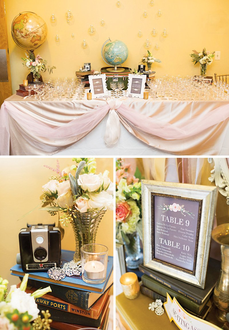 A Sweet + Vintage-Glam, Travel Inspired Wedding // Hostess with the ...