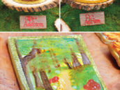 woodland birthday cakes - wood tree stumps
