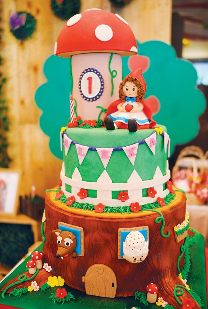 woodland little red riding hood birthday cake