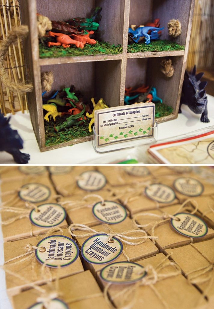 adopt a dinosaur birthday party activity
