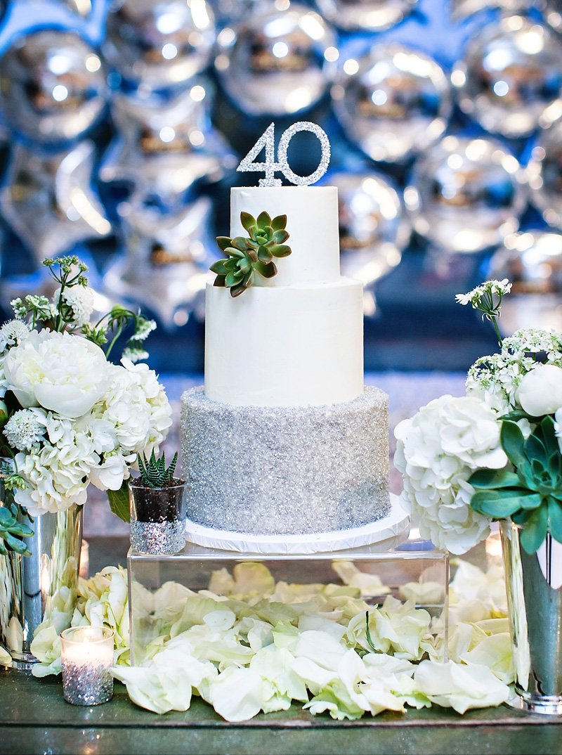 Sparkly, Silver & Fabulous 40th Birthday Soirée