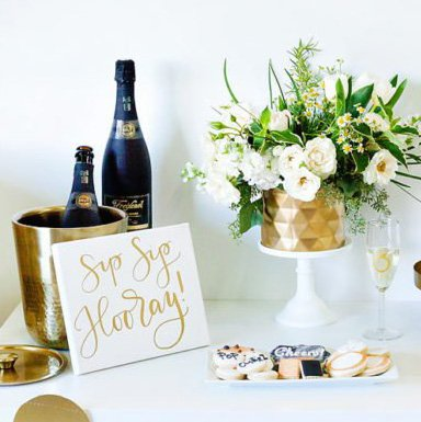 Black, Gold & Champagne-Inspired Bridal Shower