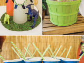 boy's dinosaur party drink ideas