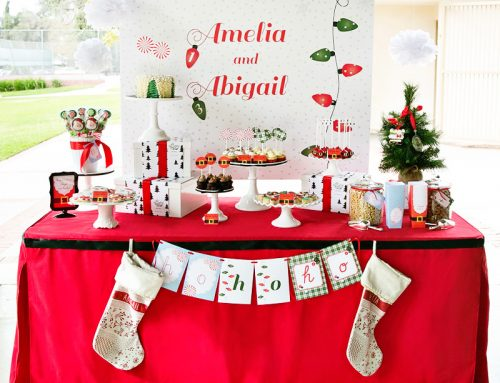 Peppermint & Plaid Christmas Themed Birthday Party