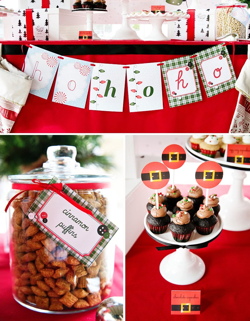 Christmas Birthday Party.Peppermint Plaid Christmas Themed Birthday Party