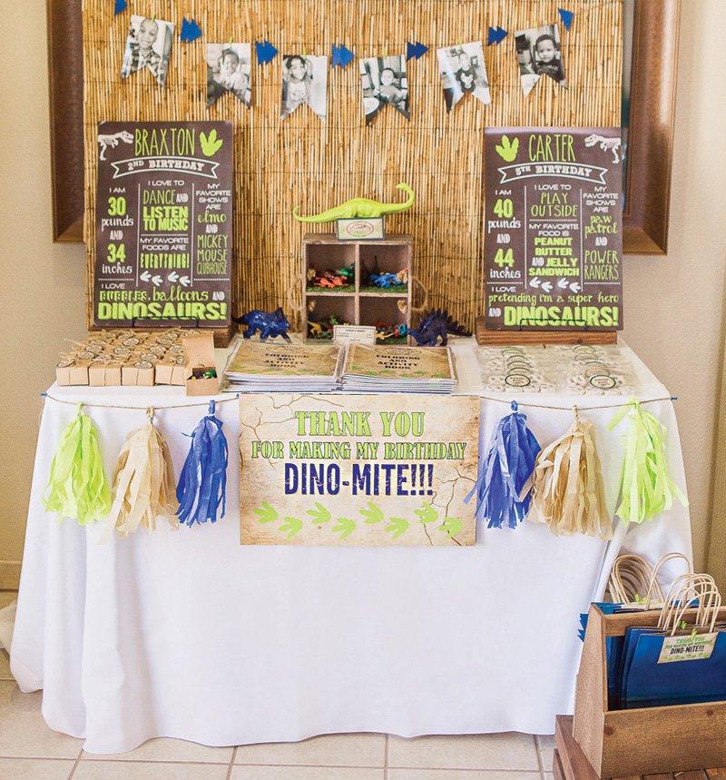 dino-mite birthday party