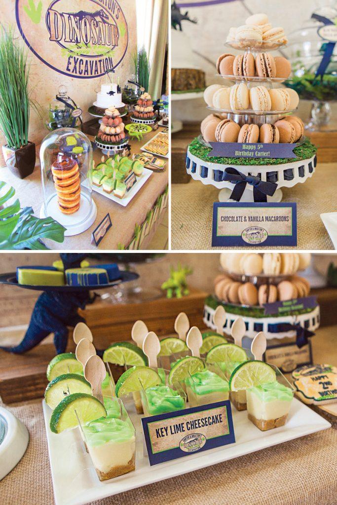 dinosaur birthday party dessert ideas