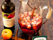 Fall Apple Sangria with 14 Hands Wine