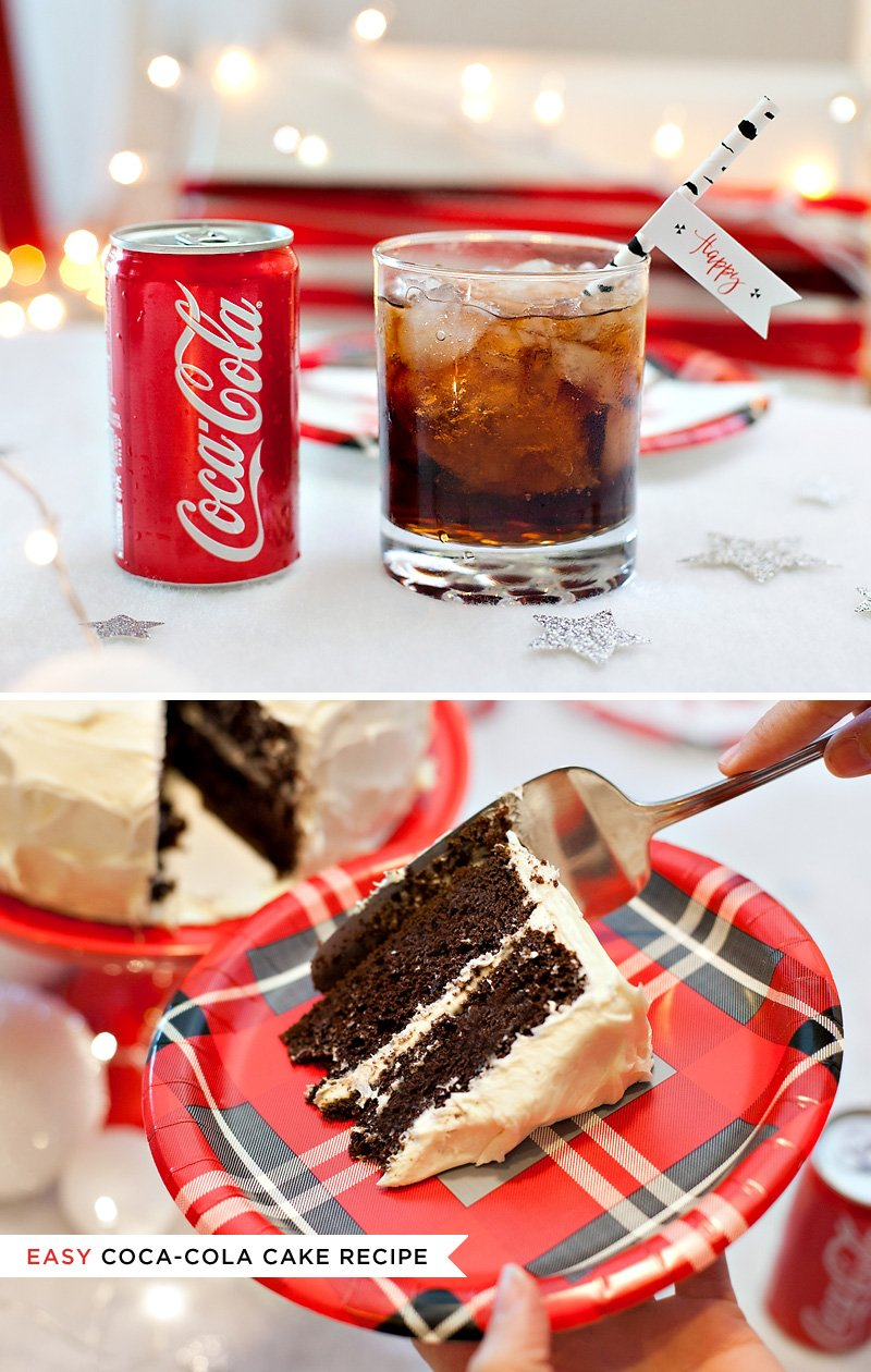 Coca-Cola Cake + Mini Cans