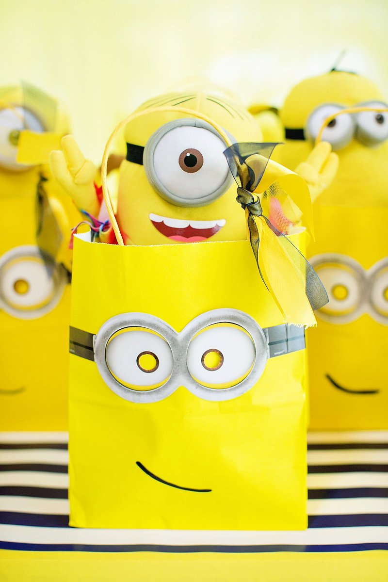 Minion Party Modern Bright One In A Minion Themed Birthday Party Hostess