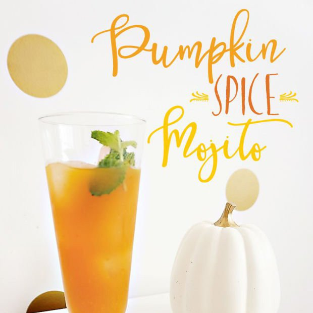 Fall Cocktail Idea: Pumpkin Spice Mojito {Recipe}