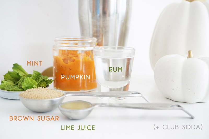 Pumpkin Spice Mojito Ingredients