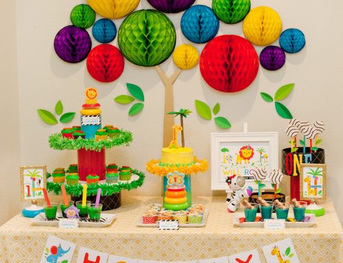 Modern Rainbow Safari 1st Birthday – Part 2 {Dessert Table}