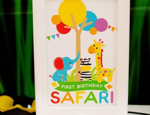 Modern Rainbow Safari 1st Birthday – Part 1