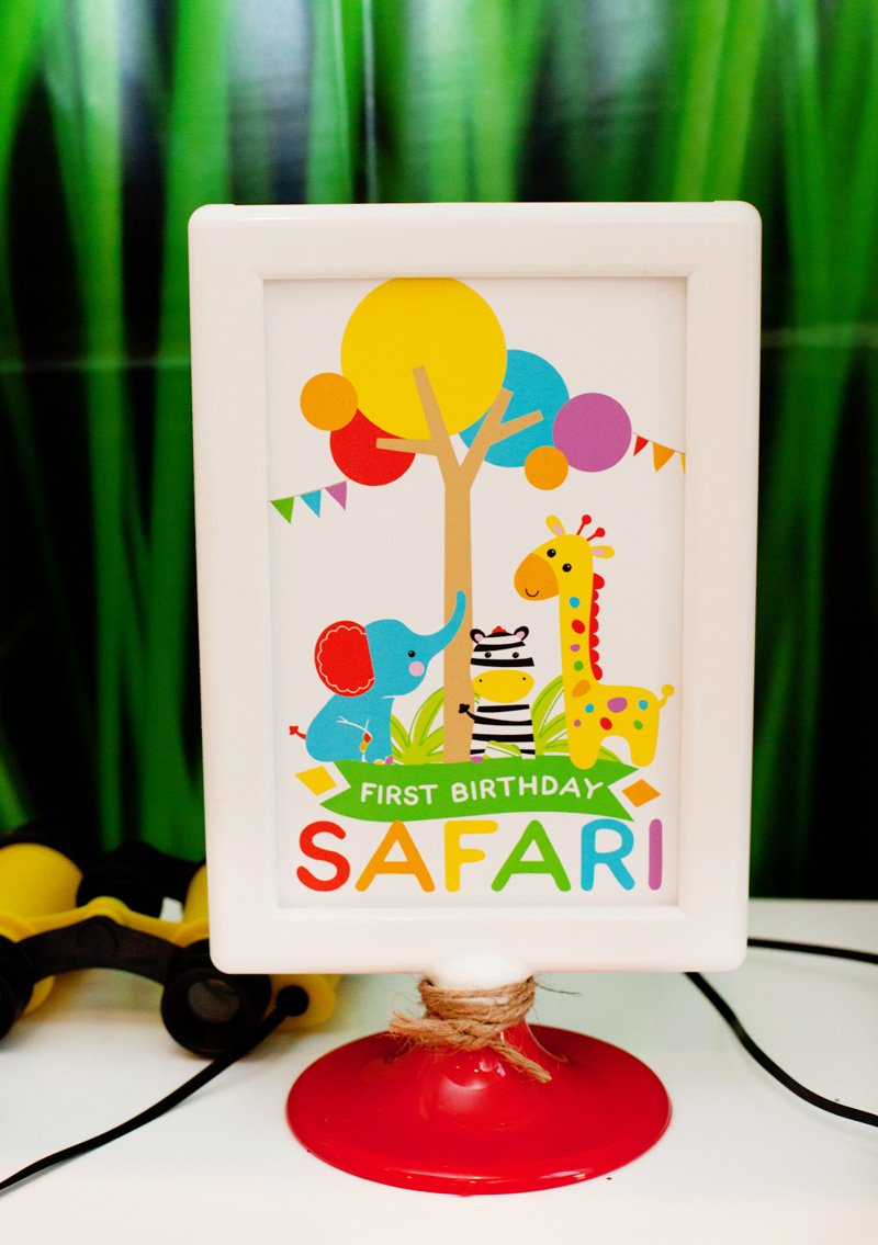 Modern Rainbow Safari 1st Birthday – Part 1