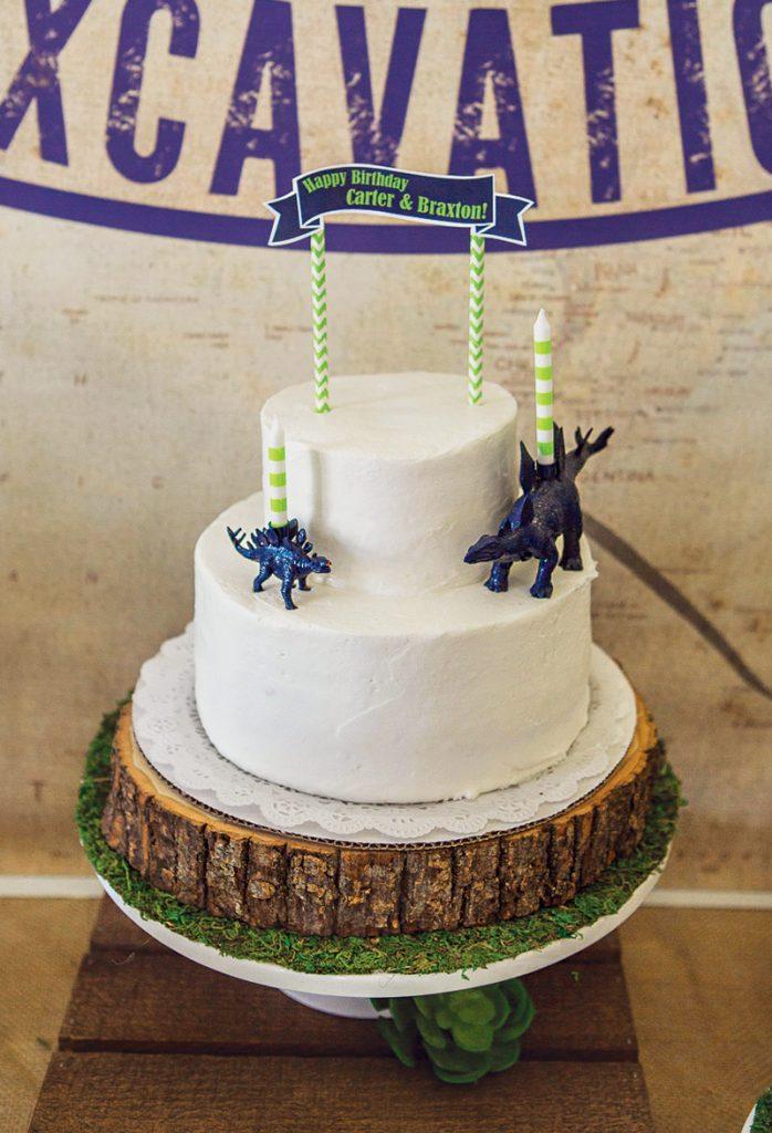 simple dinosaur birthday cake